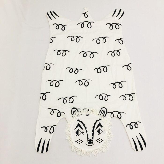 8 видов стилей модное мягкое детское одеяло игровой коврик детское одеяло-плед в виде медведя Тигр пеленальный коврик животных ковер теплый медведь игровые коврики осень-зима - Цвет: Lion