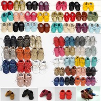 NEW 10 COLORS Genuine Leather Soft Baby Shoes First Walkers Toddler Baby Moccasins Anti Slip Infant