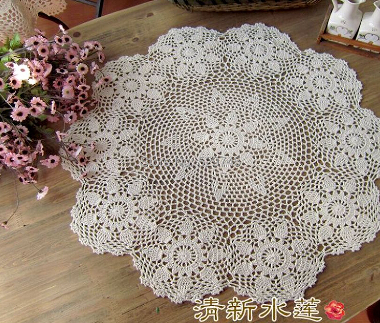 Aliexpress Christmas Essential Handmade Crochet Flower Round Coffee  Tablecloths Cotton Table Cloth Doilies Cover Home Textiles From Reliable