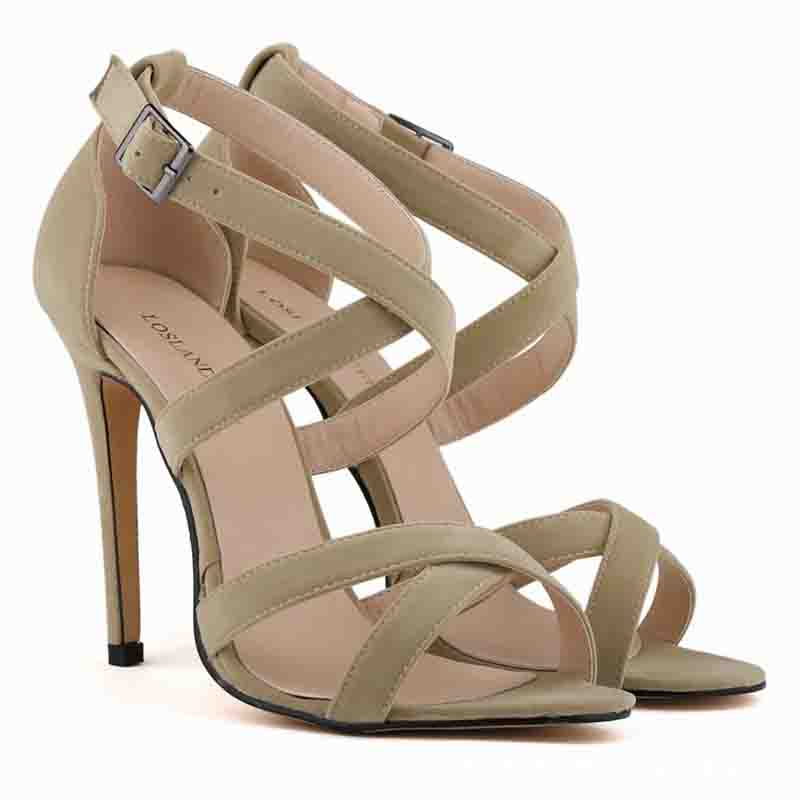 Sexy Simple High Heel Sandals Summer Strap National Flat Sole Sandals Pinched Herringbone Women's Fashion Shoes Pumps