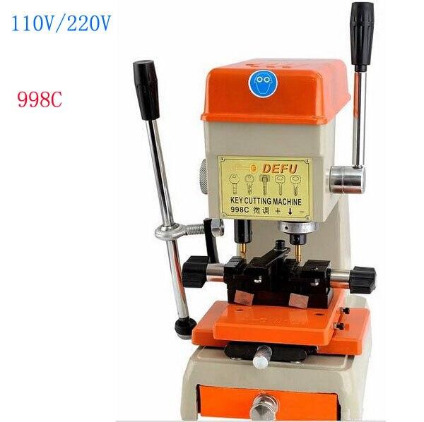 1pcs 998C Best Key Cutting Machine ford Voltage key copy machine From 220Vto 230V or 110v to 130v Can Supply xcan th 298 key cutting machine for locksmith cutting copy car keys door lock