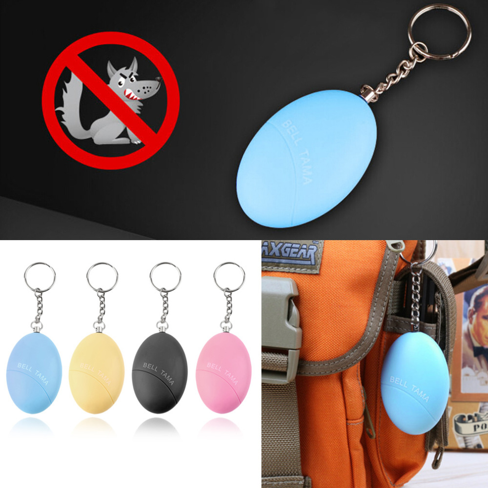 Self Defense Keychain Alarm Egg Shape Girl Women Anti-Attack Anti-Rape Security Protect Alert Personal Safety Scream Loud 2016 2pcs a lot self defense supplies alarm personal key ring protection alarm alert attack panic safety security rape alarm