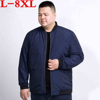 2018 plus size 8XL 7XL 6XL 5XL New Spring jacket coat men brand clothing fashion male bomber jacket top quality outwear red blue