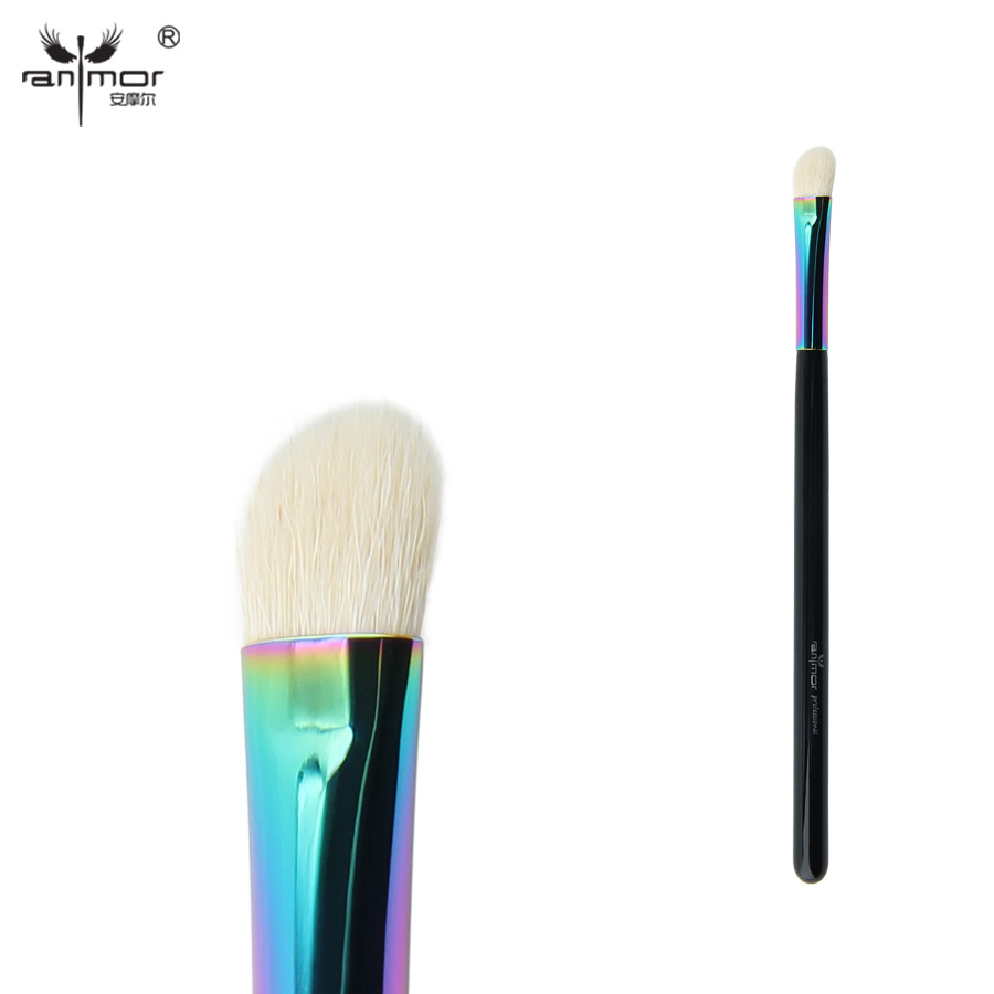 Anmor Goat Hair Angled Eyeshadow Brush High Quality Eye Blending Makeup Brushes for Daily or Professional Make Up CFCB-B08 top quality foundation brush angled makeup brush
