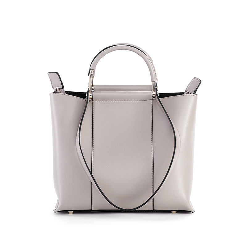LOEIL New handbag casual Korean fashion shoulder bag mother's large capacity top layer cowhide bag цена