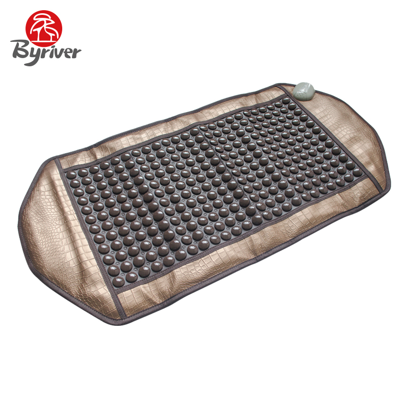 BYRIVER Jade Tourmaline Germanium Anion Ceramic Stone Thermotherapy Far Infrared Electirc Heating Pad Body Massager Bed