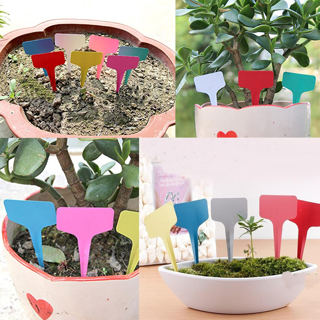 Faithful 20pcs Garden Seedling Tray Mark Tools Gardening Plant T Shape Waterproof Tags Flower Vegetable Fruit Planting Label Tools Farm Pruning Tools