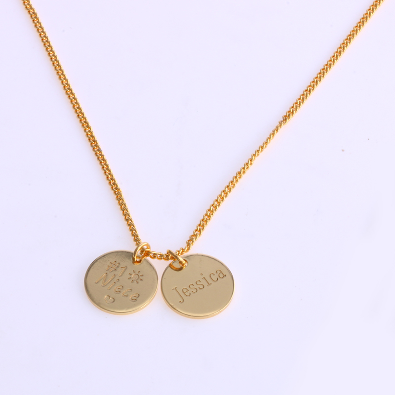 Duoying 1212 mm disc necklaces custom baby name necklace duoying 1212 mm disc necklaces custom baby name necklace personalized gold coin pendants necklaces beauty mother gifts for etsy in chain necklaces from aloadofball Gallery