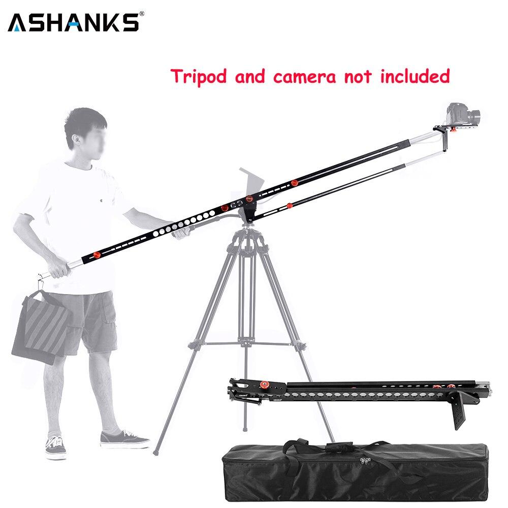ASHANKS photographie Portable potence grue pliable en aluminium Pro Fotografica DSLR vidéo potence bras caméra grue Machine avec sac de transport