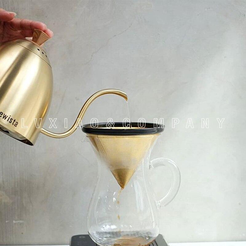 Ev ve Bahçe'ten Kahve Demlikleri'de 700ml brewista filtre kahve Isıtıcılar paslanmaz çelik kahve kapları'da  Grup 3