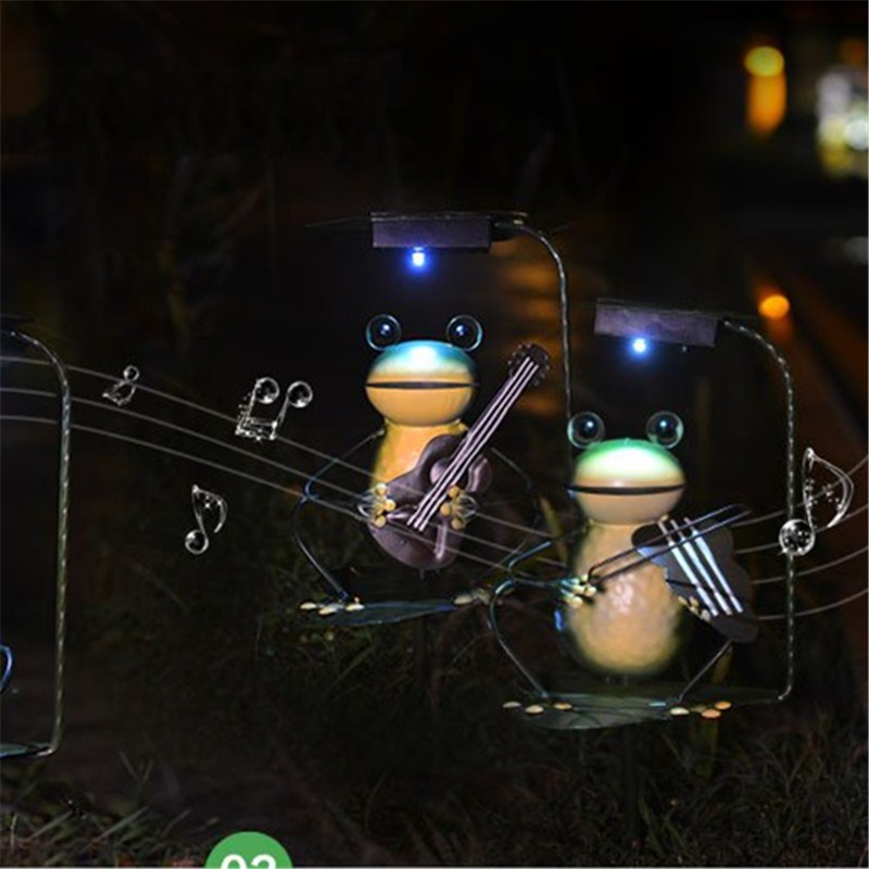 Waterproof LED Solar Panel Frog Lawn Night Light Wedding Garland Outdoor Garden Landscape Lamp Creative Gift Lighting Decoration solar lawn lamp garden solar light waterproof led street lamp super bright outdoor lawn light