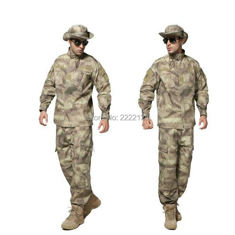 Uniforme de Camouflage militaire uniforme de Combat Multicam BDU Force spéciale Ghillie costumes pour chasse Paintball Wargame 1 Set