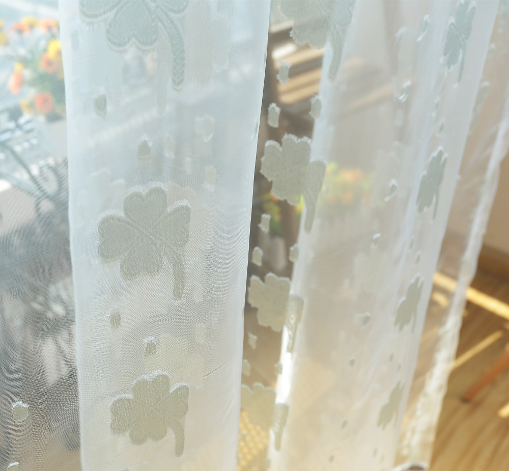 ⊹Gratis verzending jacquard bloemen ontwerp rustieke vitrages tule ...