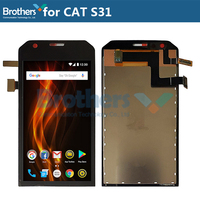 Original LCD Screen For Cat S31 LCD Display for Cat S31 LCD Assembly Touch Screen Digitizer Phone Replacement Tested Working TOP