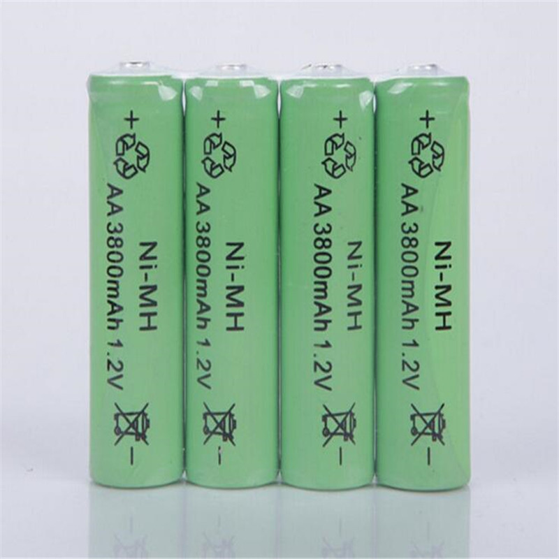 10X Ni-MH 1.2V AA Rechargeable 3800mAh 2A Neutral Battery Rechargeable battery aa batteries Free shipping