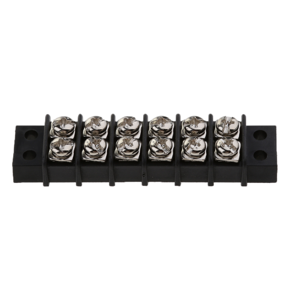 1 Pcs Boat 6 Way Screw to Screw Dual Row Barrier Terminal Block Bus Bar 30A 12V Insulator Base For Boat Yacht RV Etc-in Marine Hardware from Automobiles & Motorcycles