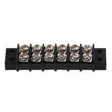 1 Pcs Boat 6 Way Screw to Screw Dual Row Barrier Terminal Block Bus Bar 30A 12V Insulator Base For Boat Yacht RV Etc 380v 30a dual row 12 position screw terminal barrier strip block