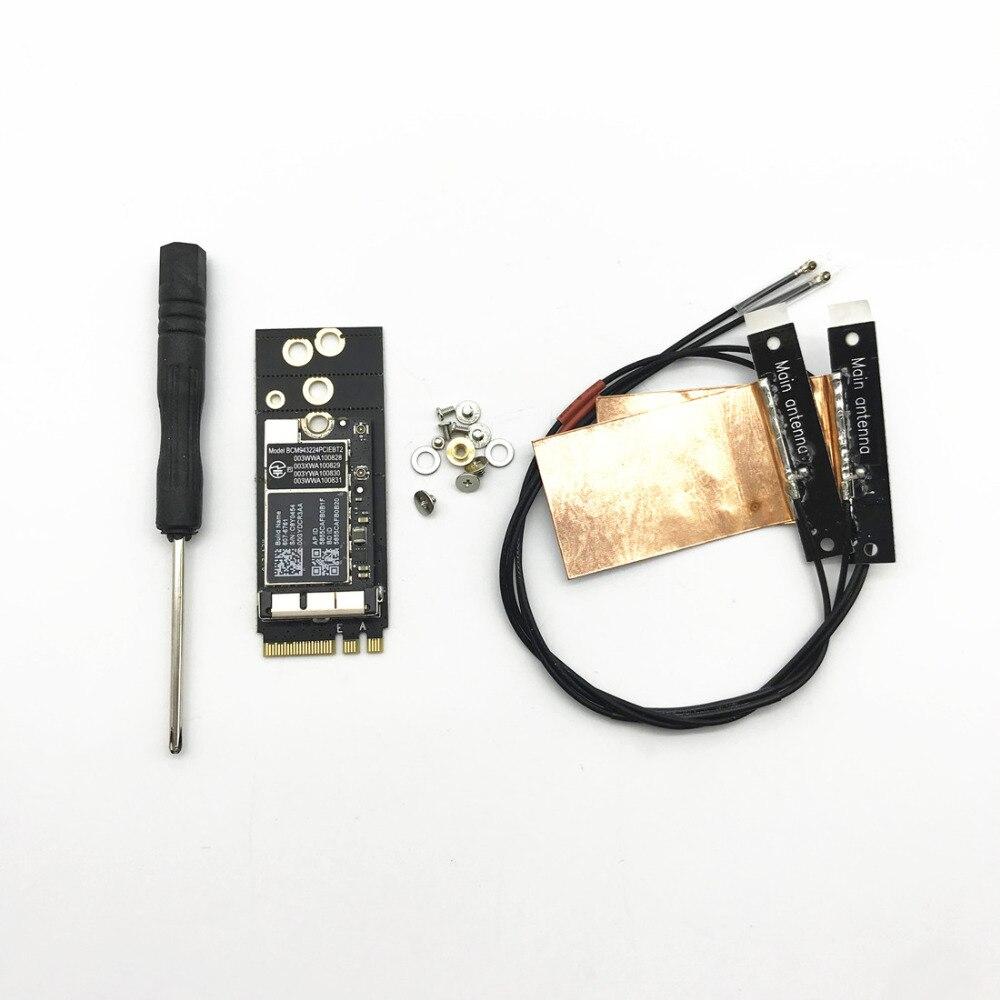 Broadcom BCM943224PCIEBT2 300Mbps Bluetooth 4.0 NGFF M.2 Key A/E Card+Antennas for Mac OS Hackintosh