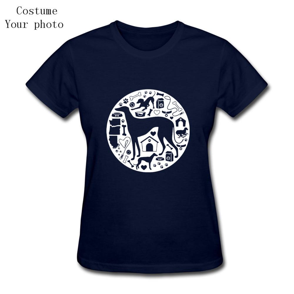 Hot Sale T-Shirt Women Short Sleeve Greyhound Dog tshirt Blank Bulldog Kawaii mujer t shirts Camisetas tshirt ballins teen wolf