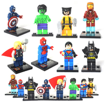 Super heroes minifigure The Avengers figures SY180 learning eductional plastic building block sets toys Compatible With