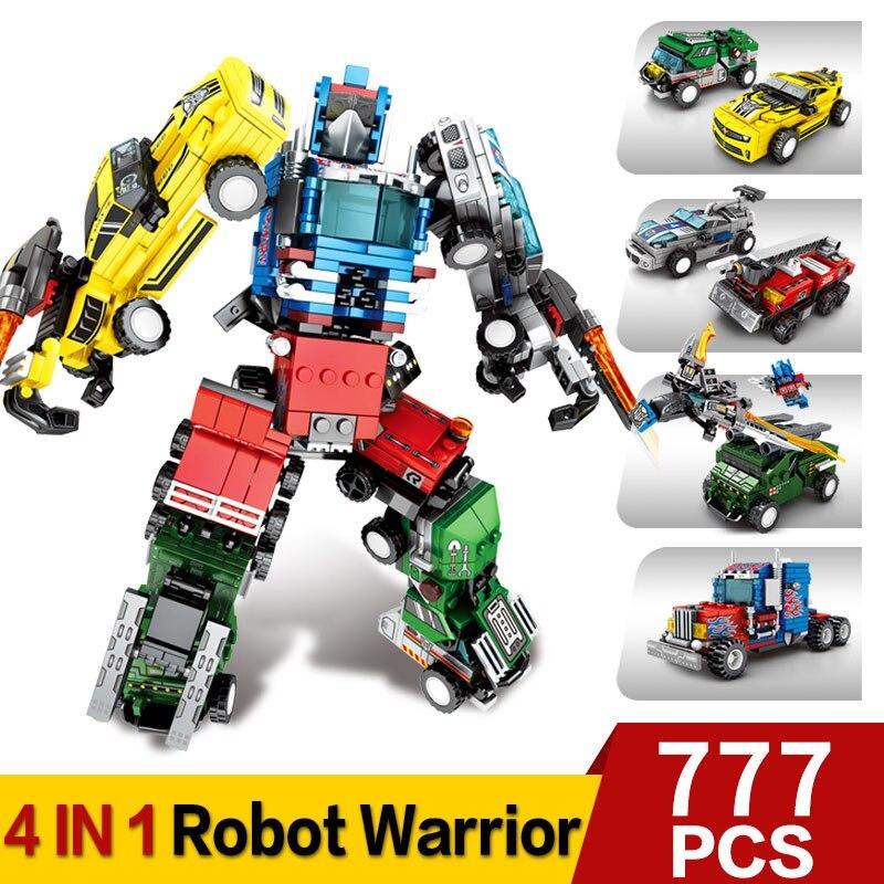 Image 2 - Transformation Building Blocks Compatible Major Brands City Trucks Car Helicopter Brick Toy For ChildrenBlocks   -