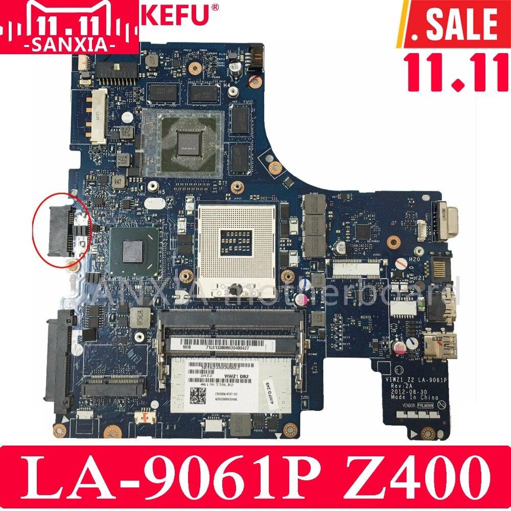 KEFU VIWZI_Z2 LA-9061P Laptop motherboard for Lenovo Z400 Test original mainboard PM цена