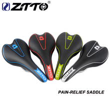 ZTTO MTB Pain-Relief CR-MO Rail Synthetic Leather Comfort Saddle Mountain Bike Road Bicycle Seat Mat 4 Colors Bicycle Parts цена