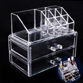 Acrylic Makeup Organizer Drawer Cosmetic Case Storage Insert Holder Box Make Up Tool Transparent for makeup brushes lipstick