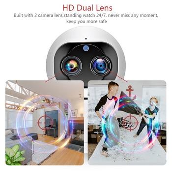 INQMEGA Cloud 1080P 2MP Dual-Lens Wireless IP Camera Wifi Auto Tracking Indoor Home Security Surveillance CCTV Network Camera 2