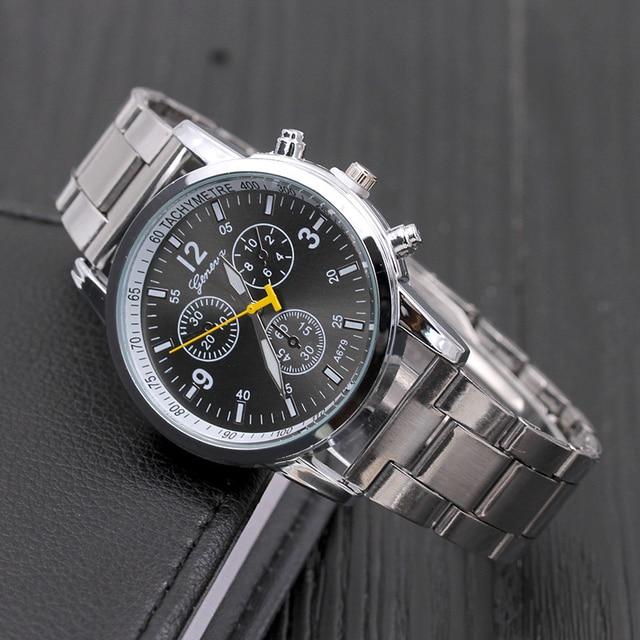 c60d6b1a87a Homens Relógios Cteel Inoxidável Dial Ponteiro Projeto Maduro Preto Prata  Marrom relógio de Pulso de Quartzo
