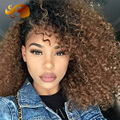 Brazilian Kinky Curly T1/33 Ombre Full Lace Human Hair Wigs For Black Women Two Tone 8A Virgin Hair Glueless Lace Front Wig