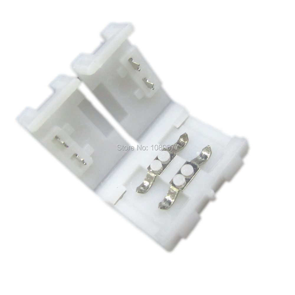 10PCS 8mm 2 pin Quick Connector for 3528 single color LED Strip Light ,Free solder