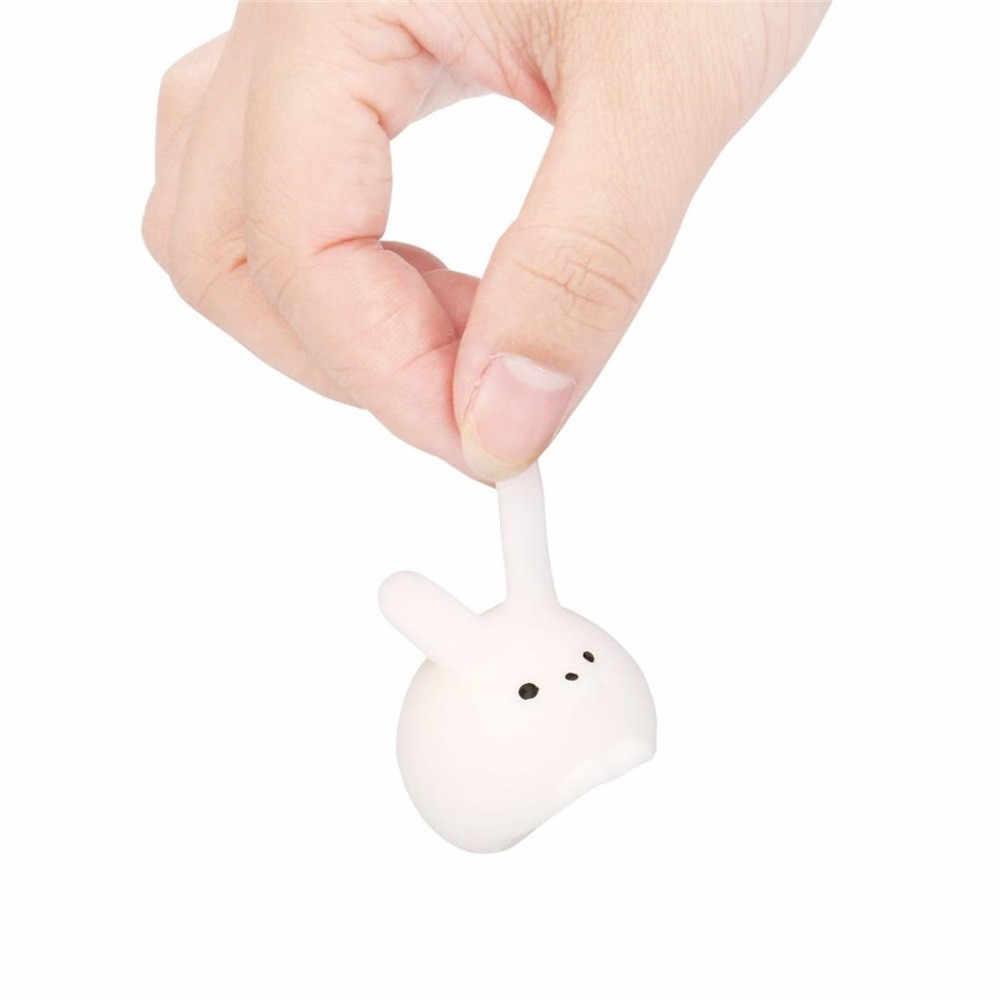 Coelho Gordo mole Mini Branco Rosa Cura Aperto Abreagir Fun Joke Presente Brinquedos Aumento Mão Mini Dom Brinquedo macio