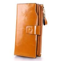 Nesitu Fashion Multifunctional Purses Genuine Leather Women Wallets Female Hasp Long Style Cowhide Purse Card Holder