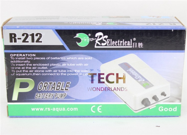Portable <font><b>battery</b></font> air pump Aquarium fish tank Oxygenated Live Bait Fishing <font><b>Aerator</b></font> RS R-212
