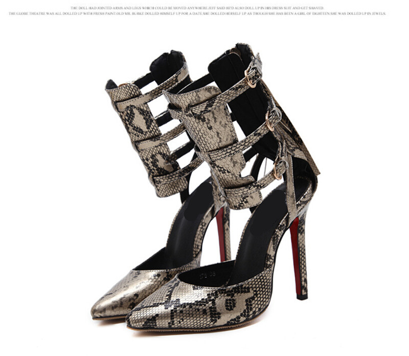 Tip of the toe With a fine serpentine Women Shoes Sandals