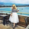 7 Слоя 65 см Длинные Юбки Женские Взрослых Туту Тюль Юбки American Apparel Bridesmaids Платье Saias Femininas BSQ002