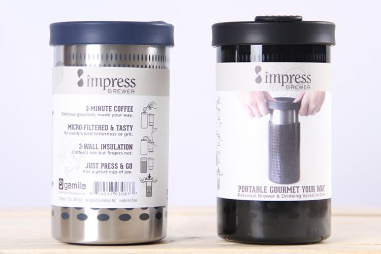 The USA American Impress Coffee Method of pressure pot Filter coffeemaker Vacuum cup Coffee mug with hand Using the pressure термокружка emsa travel mug 360 мл 513351