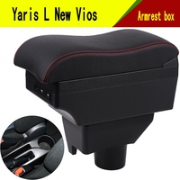 For Toyota Yaris L New Vios armrest box central Store content Storage box with cup holder ashtray USB interface 2014-2017