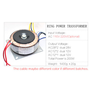 Image 2 - CIRMECH Dual ac 28v 12V single 12v 200W transformer for preamplifer amplifer tone board used 110V 220V optional