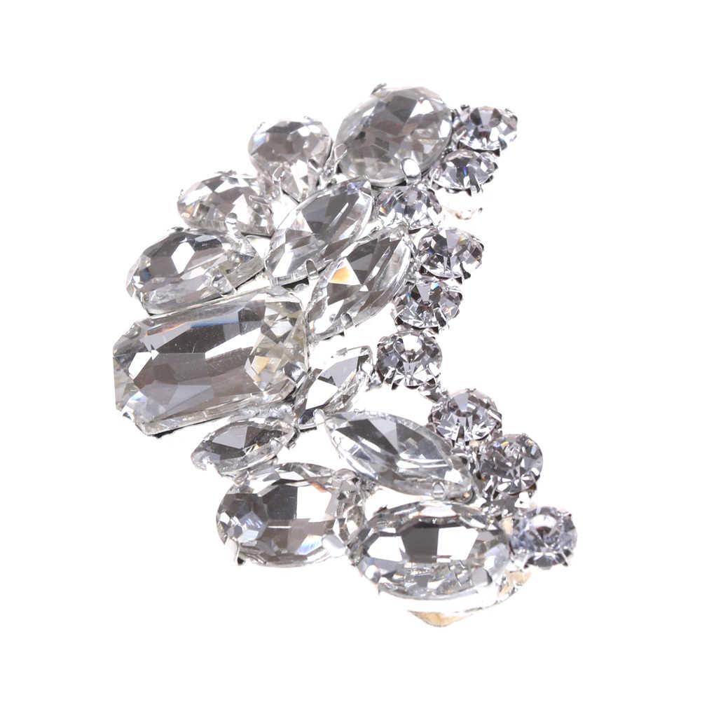 1 Stuk Schoen Clip Crystal Rhinestone Charm Decoratie Metalen Materiaal Bruids Schoenen Clips Decoratieve Winkel Schoen Accessoires