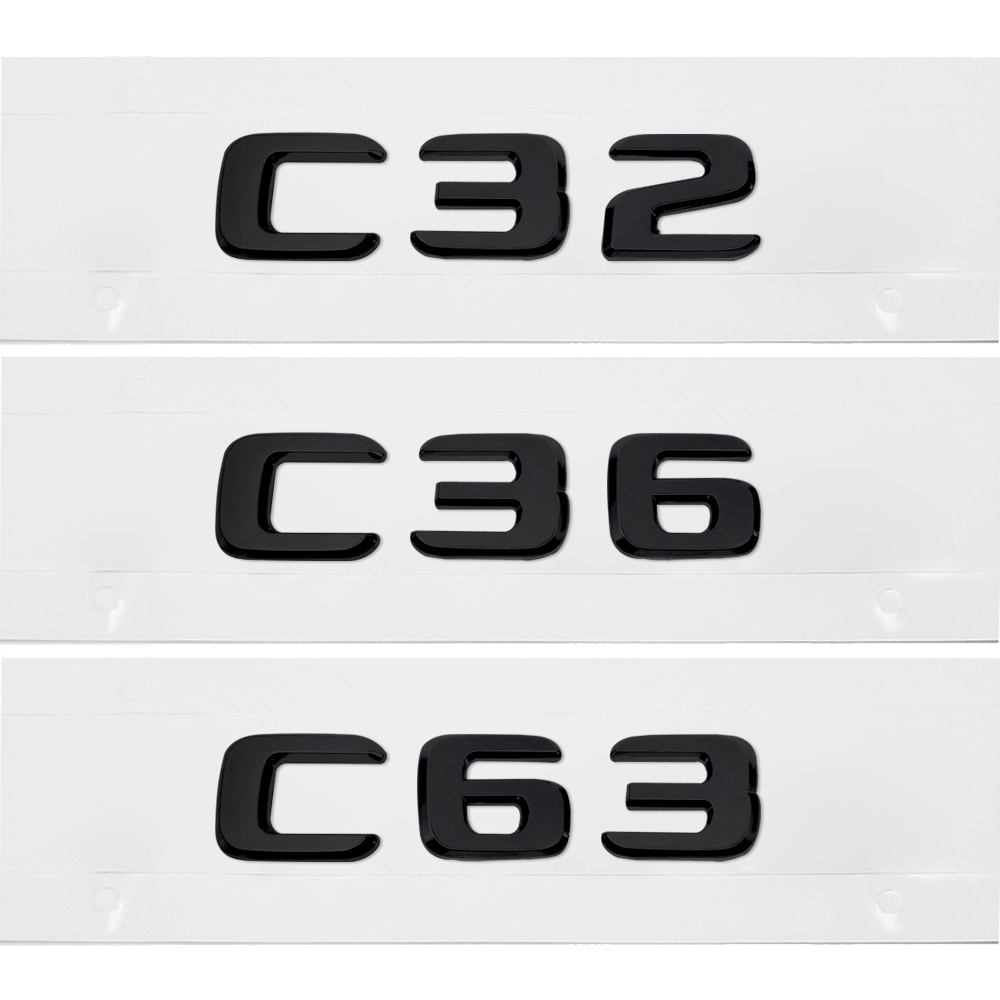 For Mercedes-Benz C-Class W201 W202 W203 W204 W205 W463 W210 W220 C32 C36 C63 AMG Car Rear Tail Number Letter Stickers image