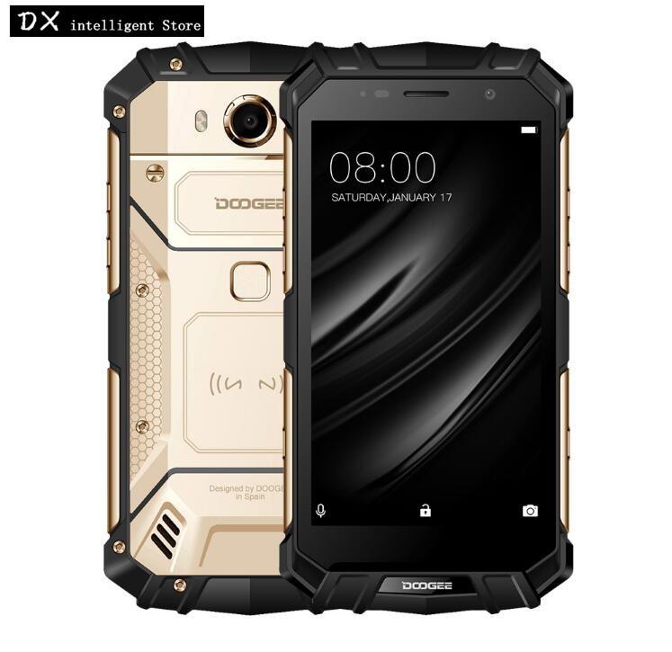 DOOGEE S60 lite 4 gb 32 gb IP68 Étanche SmartPhone 5.2 pouce MT6750T Octa Core 16.0MP Android 7.0 NFC OTG sans fil chargeur de Téléphone