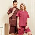 2017 Conjuntos de Pijamas de Verano 100% Algodón Cofortable Humeante Servicio Clientes Del Abrigo Para Hombres Y Mujeres
