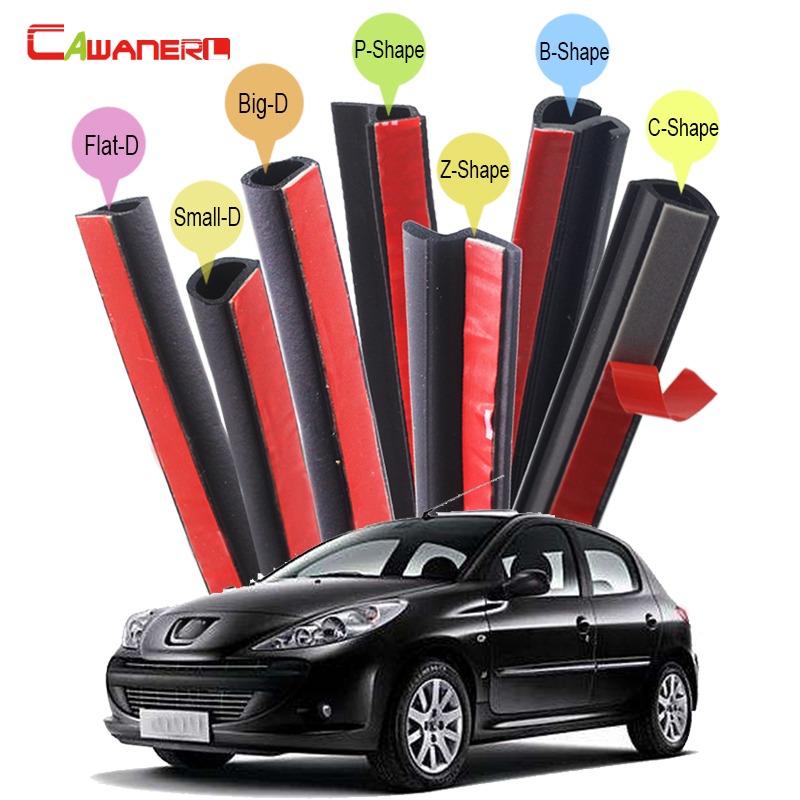 Cawanerl For Peugeot 1007 107 206 207 Car Styling Rubber Sealing Strip Kit Weatherstrip Seal Edge Trim Noise Insulation телефон dect philips linea v m3501b 51
