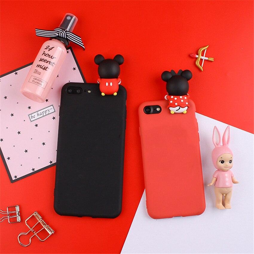 Cute 3D Cartoon Case Mickey Minnie Duck Silicone Soft Phone Case For Samsung Galaxy S4 S5 S6 Edge S7 Edge S8 S9 Plus Note Case