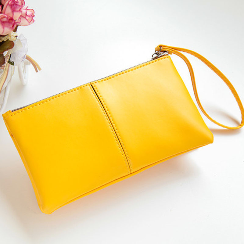 Fashion Yellow Women Wallets PU Leather LONG Wallet Zipper Clutch Purse Wristlet Portefeuille Handbags Carteira Feminina UM852 2017 hot sale women wallets dull polish wallet double day clutch purse wristlet portefeuille handbags m0027