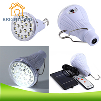 Camping Solar LED Bulb Outdoor DC 6V 20 LEDs 5W With Remote Control Garden LED Lamp