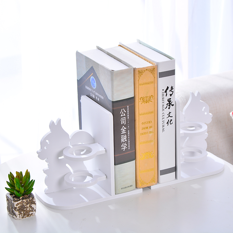 Creative 1 pair wooden bookends with pen holder kawaii bookshelf retractable bookstore shelves book office stationery supplies цена