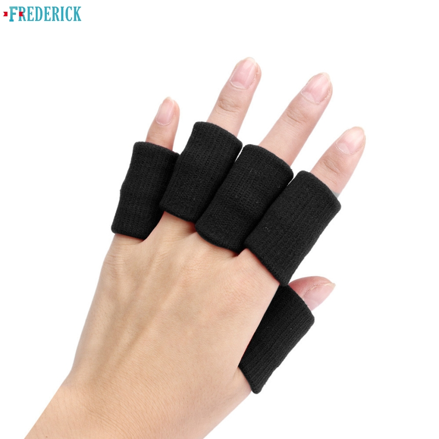 Frederick 10pcs Stretch Basketball Sports Finger Guard Support Sleeves Safe Glove Protective Protector